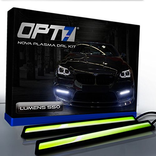 OPT7 Nova Plasma DRL Light Bars - (550 Lumens) 17cm COB Daytime Running Light White
