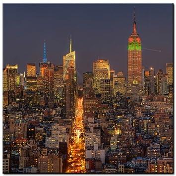 Amazon De Skyline Plexiglasbild Acrylglas New York Bild