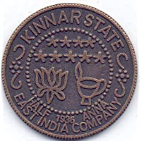 Samritika Ventures 1936 (SAMAT) SACH BOLO PURA TOLO KINNAR State East India Company Half Anna Rare Copper Temple Token Coin** A3 Old India Coin