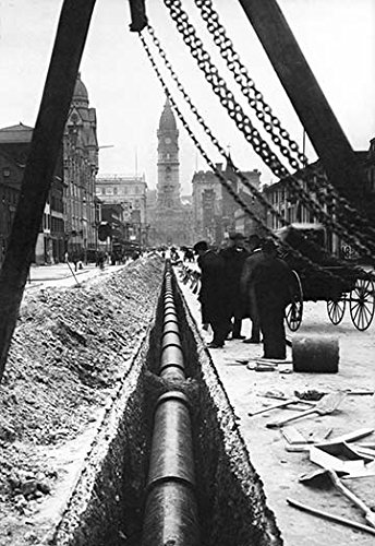 - Buyenlarge 0-587-00730-3-G1827 'Installing a Water Pipe, North Broad Looking South, Philadelphia, PA' Giclee Fine Art Print, 18