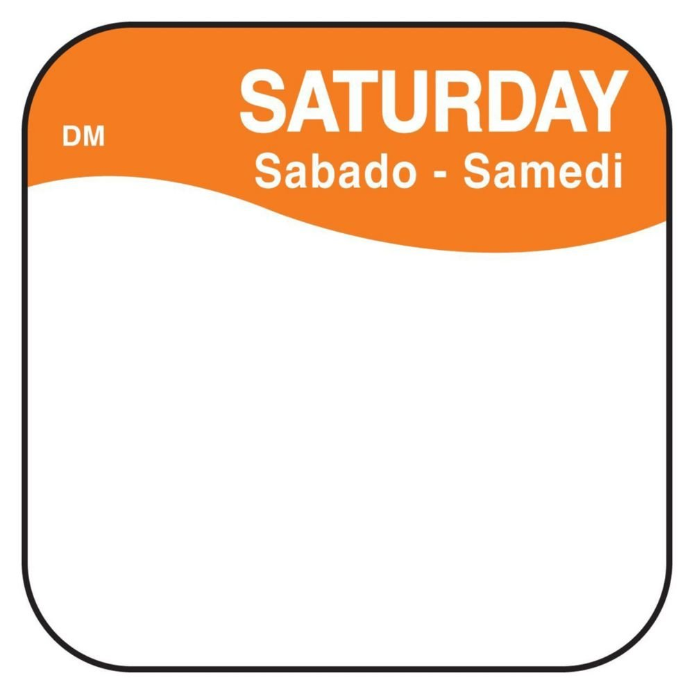 DayMark 1100376 DissolveMark .75'' Saturday Day Square - 1000 / RL by DayMark Safety Systems (Image #1)