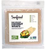 Sunfood Coconut Wraps, Organic, Raw, Vegan, Paleo, 7ct