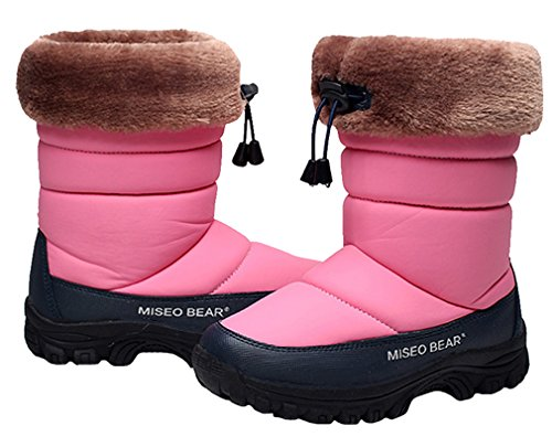 Pointss Boot Cotton Boot Outdoor Warm Boot Middle Snow Anti Thickened Style Pink Girls Waterproof Slip Casual Hiking Boys rFqxPZwXr