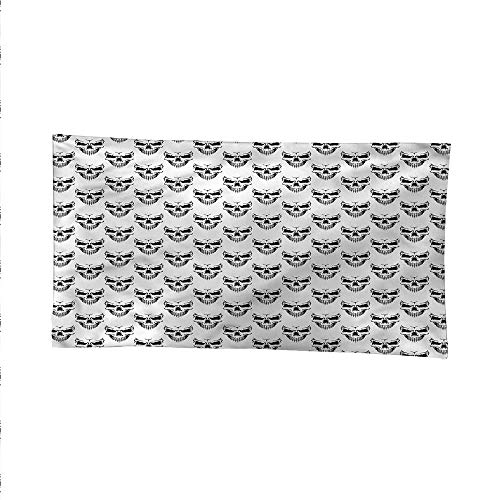 Skulloutdoor tapestryceiling tapestrySinister Expression Halloween 60W x 40L Inch -