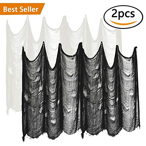 ziyue Halloween Creepy Cloth Party Decor Drape Doorways Entryways Windows Cover Gauze 10 Yards X 30