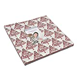 Hearthside Holiday Layer Cake, 42-10 inch Precut Fabric Quilt Squares by Deb Strain