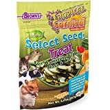 F.M. Brown's Tropical Carnival Natural Select Seeds Treat, 3.5-oz Bag - Natural Fiber, Antioxidants, and Essential Minerals for Hamsters, Gerbils, Rats, and Mice