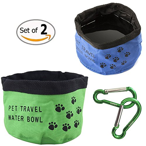 travel-pet-bowl-cromi-oxford-fabric-portable-folding-collapsible-2-pack-food-water-bowl-cup-for-dogs