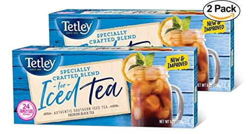 Tetley Iced Tea Blend Round Tea Bags 24 ct Box - Pack of 2 (Blend Iced Tea)