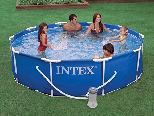 New Intex 10' x 30 Metal Frame Set Swimming Pool with Filter Pump | 28201EH by PUNER Store