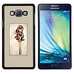 LECELL--Funda protectora / Cubierta / Piel For Samsung Galaxy A7 A7000 -- Pin Up Lindo --