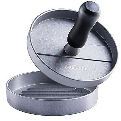 E-PRANCE Aluminum Burger Press Hamburger Maker Non Stick Patty Mold Ideal for BBQ