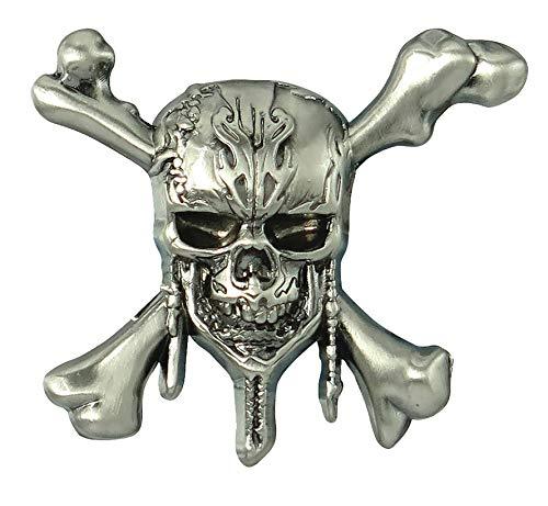 - Disney Pirates of The Caribbean - Skull & Cross Bones Pewter Lapel Pin Novelty Accessory