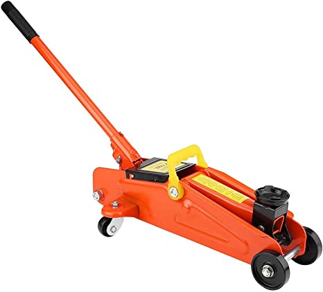 Cric Hydraulique 2T Cric de Levage de Voiture Cric Hydraulique Rouleur Chariot de Levage pour Voiture Van Orange
