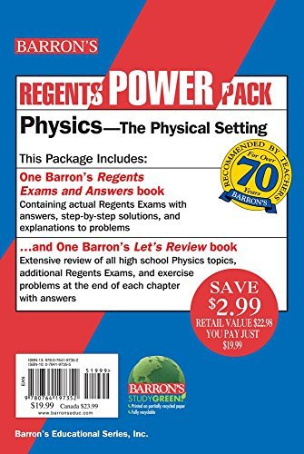 Physics - The Physical Setting Power Pack (Regents Power Packs) by Lazar M.S. Miriam A. Tarendash Albert (2015-09-01) Paperback