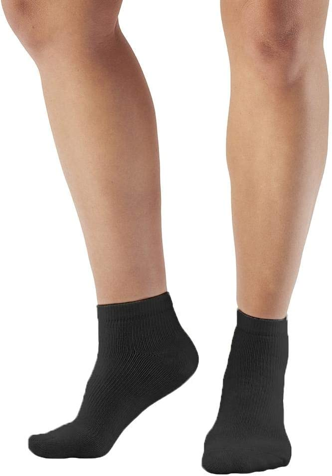 Ames Walker AW Style 140 Coolmax 20 30 mmHg Compression Anklet Socks White Large