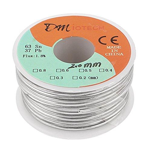 uxcell 0.3mm 35gram 63 37 Tin Lead Roll Rosin Core Soldering Wire Reel