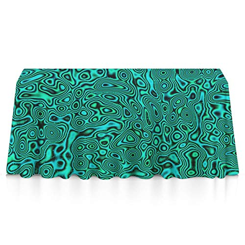 Table Cloth, Dust-Proof Wrinkle Free Table Covers, Rectangular Green Trippy Machine Washable Table Toppers for Square Or Round Tables, Home Table Decor