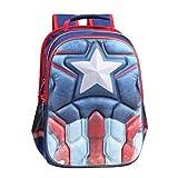 Cheap Superhero Licensed 3D Captain America Backpack,16.1 Inch, Waterproof Bookbag (Vintage Captain America)