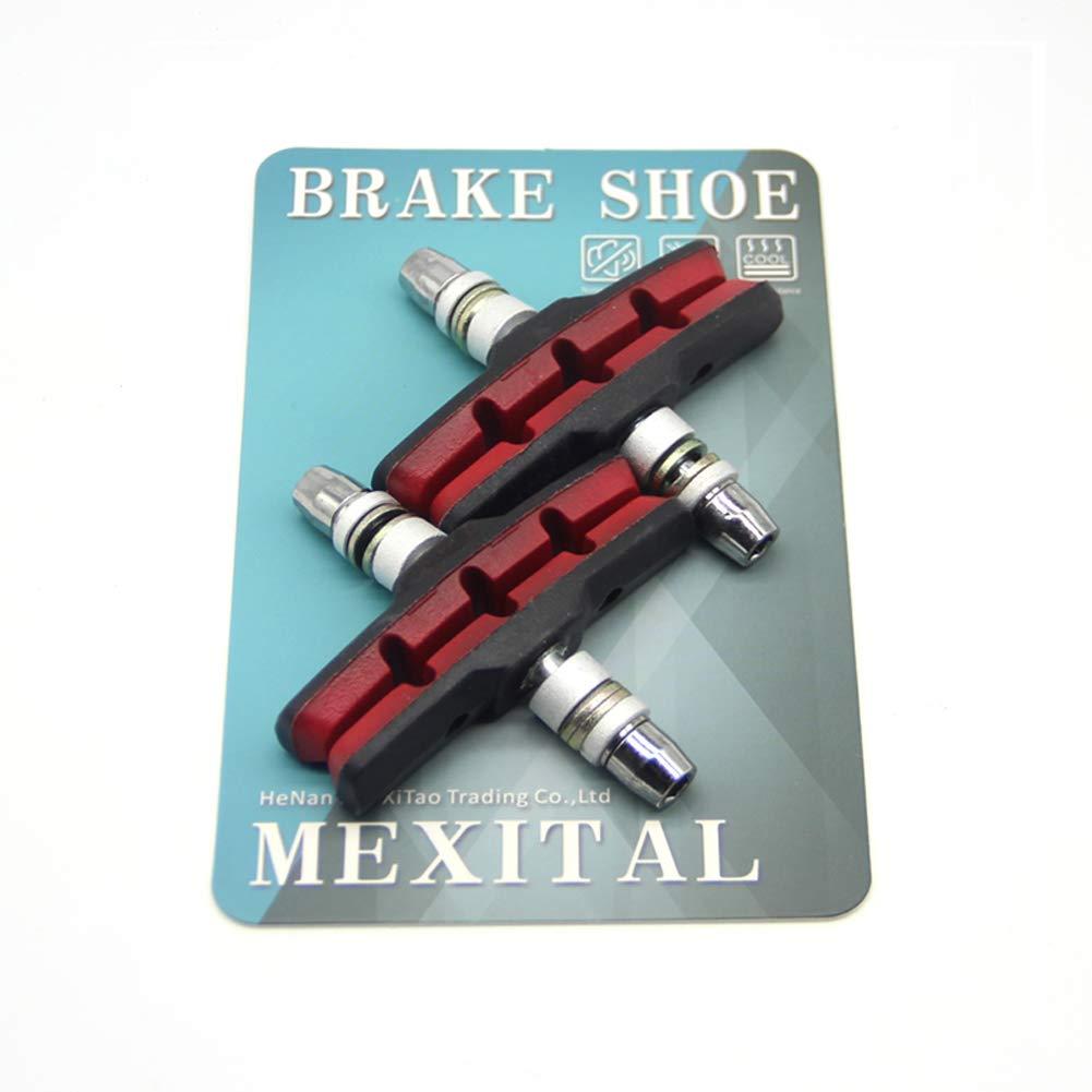 MEXITAL 2 Paia Pastiglie Freno V Bici con Dadi esagonali e distanziali Set di Blocchi Freno V Bicicletta 70 mm