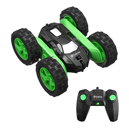 EACHINE RC Stunt Car for Kids, EC02 4WD Monster Truck Double Sided Rotating Tumbling – 2.4GHz High Speed Rock Crawler Vehicle with Headlights for Beginner