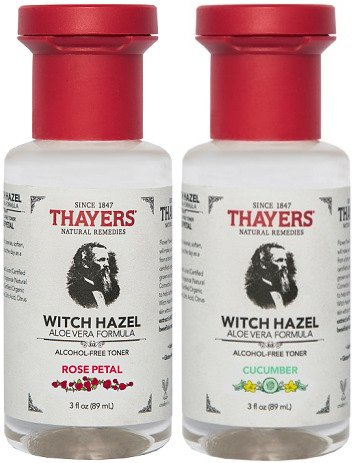 Thayers Rose Petal & Cucumber Combo Witch Hazel with Aloe Vera Alcohol-free (3 Ounces) Travel Size