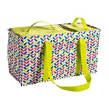 Large Utility Tote Bag With Handles 2 Zippered Coolers