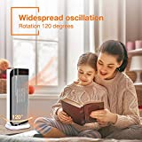 Air Choice Ceramic Space Heater Instant Warm for Office, with Remote Control & Adjustable Thermostat, Heat Up Fast Small Portable Personal Fan Under The Desk, White