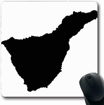 Luancrop Alfombrillas para computadoras España democrática Tenerife Mapa Isla Aventura Información Atlas Diseño de cartografía con Borde Negro Alfombrilla de ratón Antideslizante para Juegos: Amazon.es: Electrónica