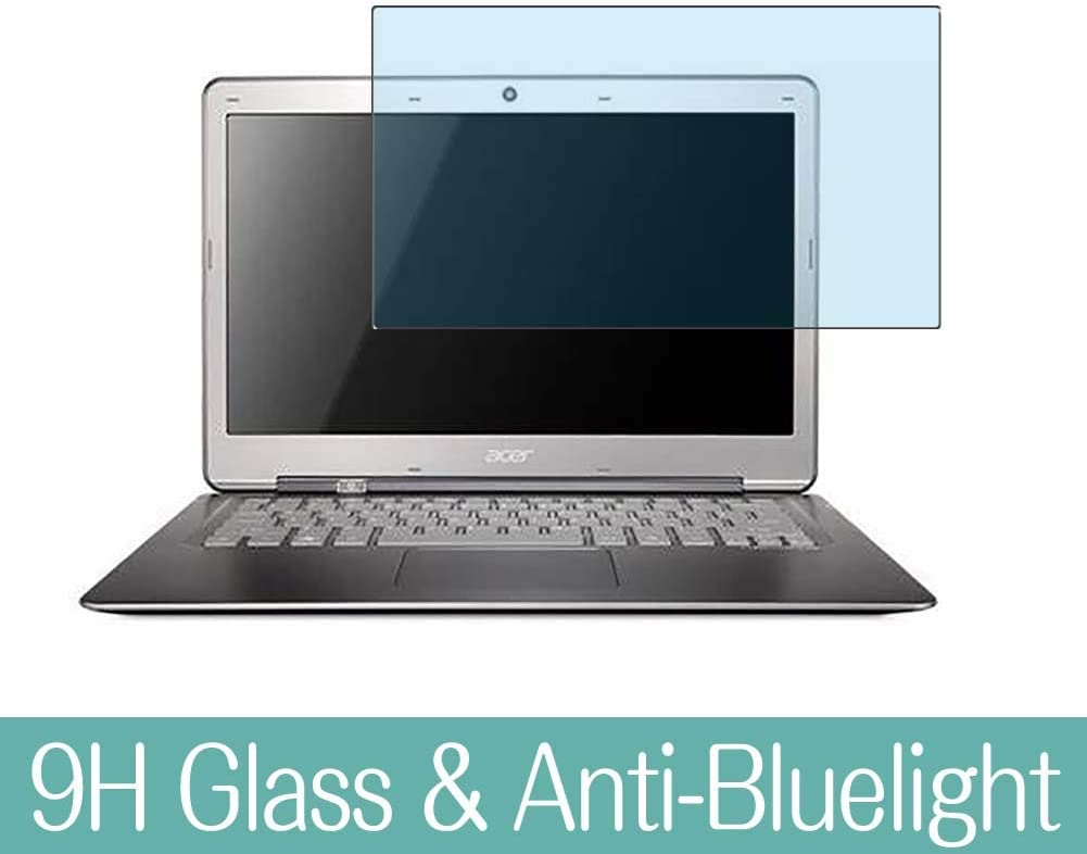 """Synvy Anti Blue Light Tempered Glass Screen Protector for ACER Aspire S3-951 13.3"""" Visible Area 9H Protective Screen Film Protectors (Not Full Coverage)"""