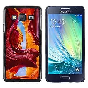 Be Good Phone Accessory // Dura Cáscara cubierta Protectora Caso Carcasa Funda de Protección para Samsung Galaxy A3 SM-A300 // Red Sky Caves Canyon Sand Sun