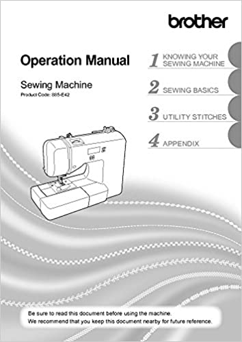 Brother XR40 Sewing Machine Owners Instruction Manual There And Mesmerizing Brother Xr3140 Sewing Machine