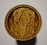 Stamp For The Holy Bread Orthodox Liturgy/Wooden Hand Carved Traditional Prosphora *THE HOLY TRINITY* (Diameter: 1.97 inches/50 mm) #59