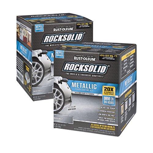 Rust-Oleum RockSolid Silver Bullet Metallic Garage Floor Kit - 2 Pack by Rust-Oleum