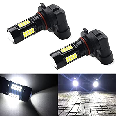 9005 LED Fog Lights Bulbs or DRL, Super Bright White Projection Bulb, 6000K, 36 SMD (Pack of 2), 2 Yr Warranty