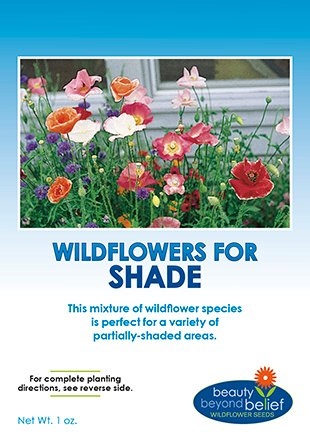 Partial Shade + Wildflower Seeds Bulk + 7 BONUS Gardening eBooks + Open-Pollinated Wildflower Seed Mix Packet, Non-GMO, No Fillers, Annual, Perennial Wildflower Seeds Year Round Planting