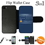 Admin Login Custom iPhone SE Wallet Cases-Black-Rubber,Bundle 3in1 Comes with Screen Protector/Universal Stylus Pen by innosub