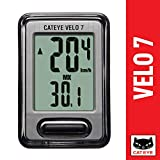 CAT EYE – Velo 7 Bike Computer – Speedometer and Odometer – Optional Headlight and Tail Light