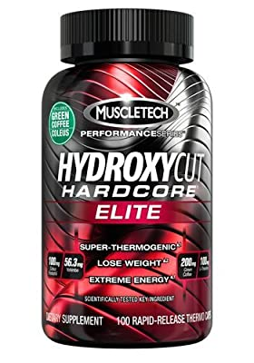 Hydroxycut Hardcore Elite - Svetol Green Coffee Bean Extract Formula, 400 Rapid-Release Thermo Caps