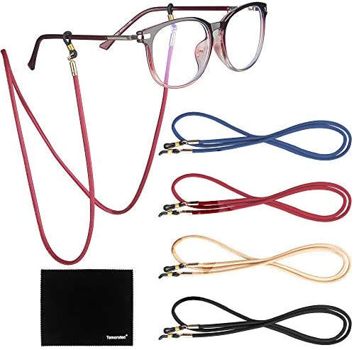 Fits All Eyeglasses Types 70cm Ultra Soft VITO Anti-Slip Lightweight Leather Eyeglasses Chain Cord Holder Retainer for Spectacles /& Sunglasses A008