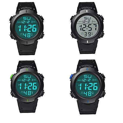 Fashion Waterproof Men's Boy LCD Digital Watch,Outsta Stopwatch Date Rubber Sport Wrist Watch (White) by Outsta Watch (Image #4)