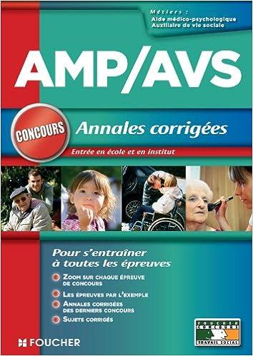 Livre gratuits AMP - AVS - Annales corrigées Concours pdf ebook