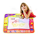 Foloda Magic Aqua Doodle Mat, 4 Color Water Drawing Printing Board Pad, Eco-Friendly Educational Toy for Kids (31.5in X 23.6in)