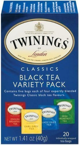 Red Tea Sampler Tea - Twinings Variety Pack of Four Flavors, Tea Bags, 20-Count - Pack of 3