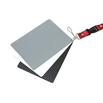 Adaptout - Carta de grises para balance de blancos (gris 18%), conjunto de 3 tarjetas impermeables, marca francesa