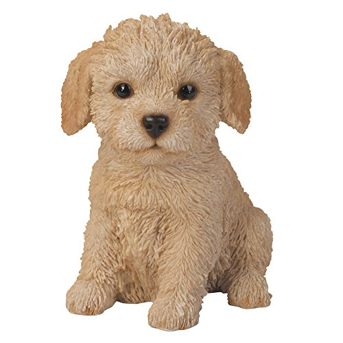 Collectible Dog Figurine (Pacific Giftware Adorable Seated Labradoodle Puppy Collectible Figurine Amazing Dog Likeness Hand Painted Resin 6.5 inch Figurine Great for Dog Lovers Tabletop Decor)