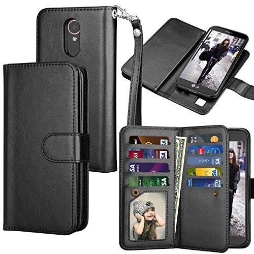 LG K20 V Case, LG K20 Plus Wallet Case, LG Harmony / LG Grace / LG V5 / K10 2017 PU Leather Case, Tekcoo Luxury Cash Credit Card Slots Holder - Mobile International T Mall