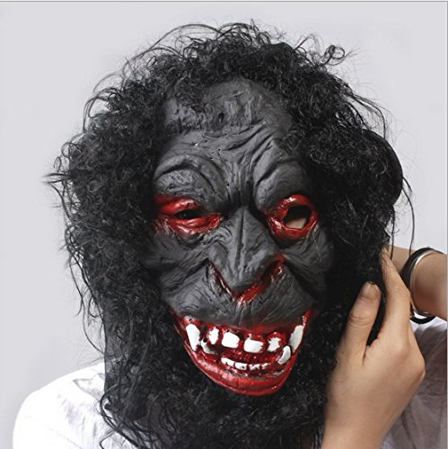[Candylight Halloween Chimp Head Mask] (New Blood Jason Costume)