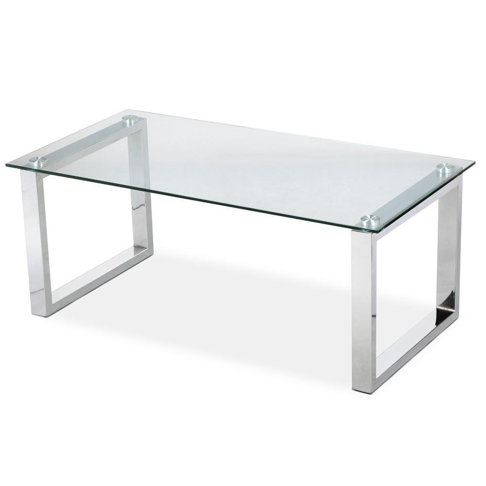 Awesome Amazon.com: Topeakmart Living Room Modern Glass Top Coffee Tables Metal  Base Glass Side End Table With Stainless Steels Legs: Kitchen U0026 Dining