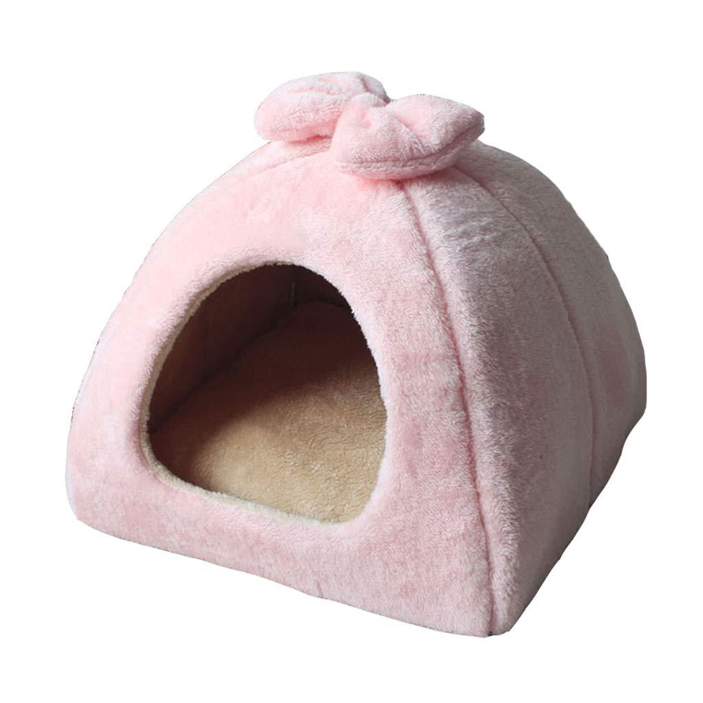 Pet Bed Yurt Cat Litter Cane Di Taglia Piccola e Media Teddy Dog House Four Seasons Inverno e Estate Stella Pieghevole A Doppio Uso (dimensioni   Large)